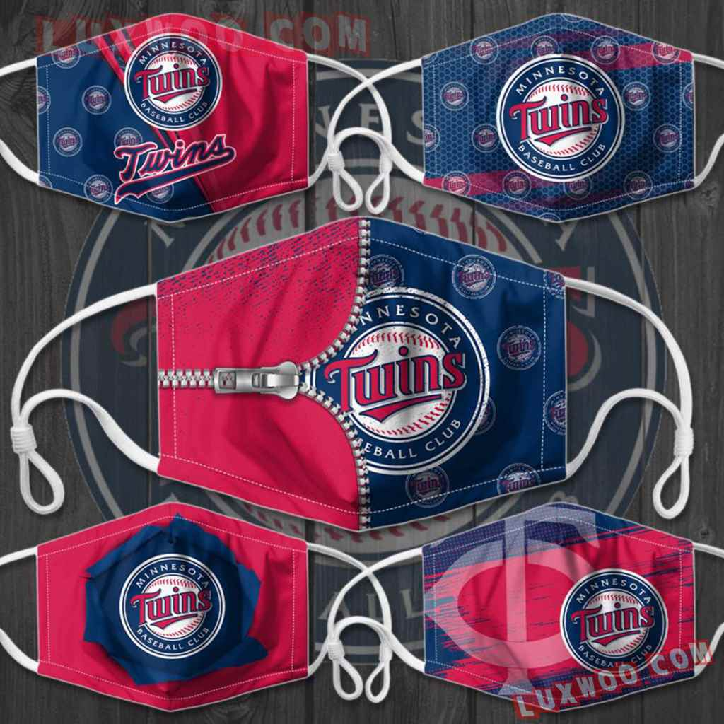 Mlb Minnesota Twins 3d Face Mask Combo 5 V1