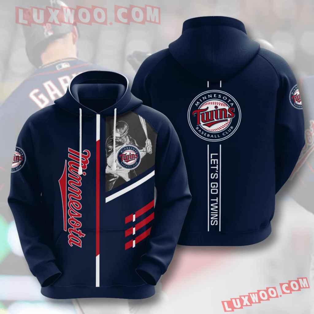 Mlb Minnesota Twins 3d Hoodies Printed Zip Hoodies Sweatshirt Jacket V2