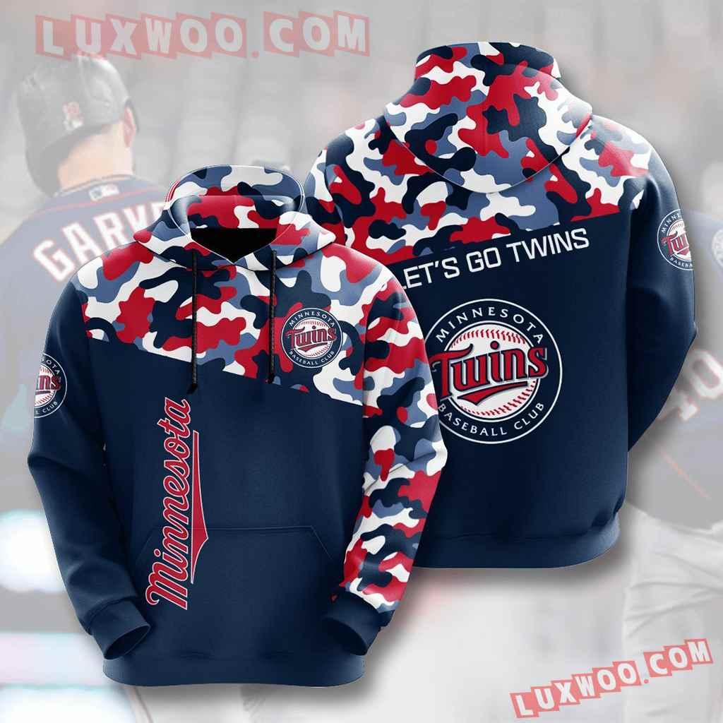 Mlb Minnesota Twins 3d Hoodies Printed Zip Hoodies Sweatshirt Jacket V3