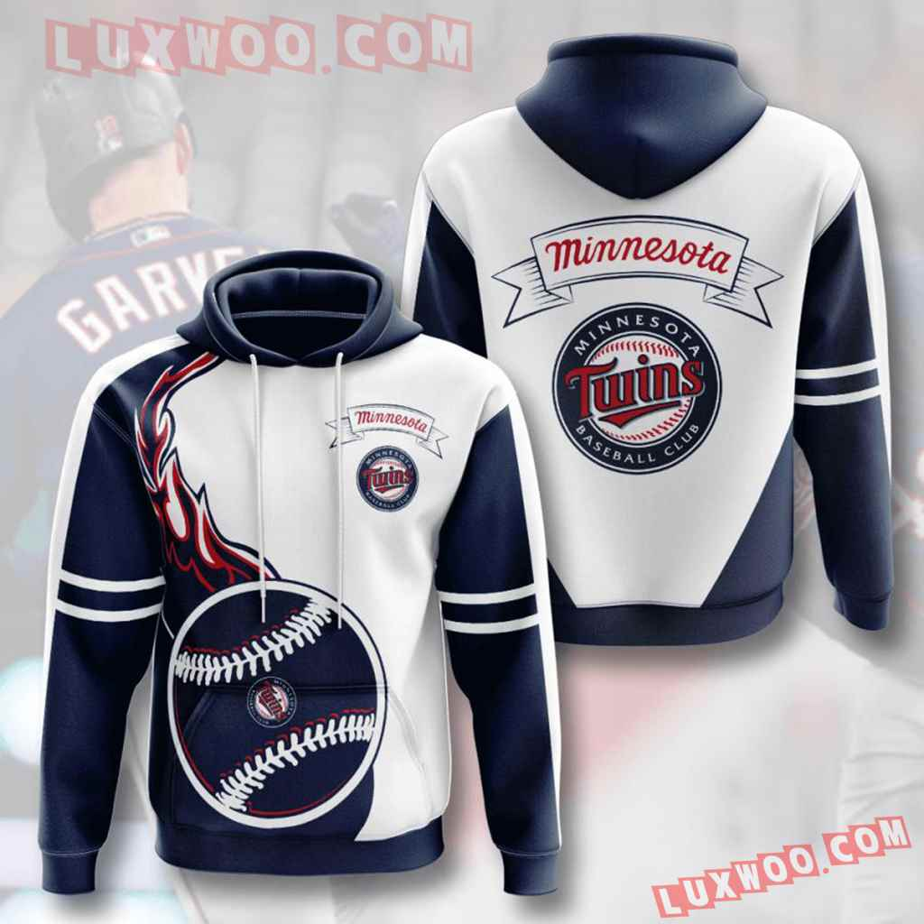 Mlb Minnesota Twins 3d Hoodies Printed Zip Hoodies Sweatshirt Jacket V4