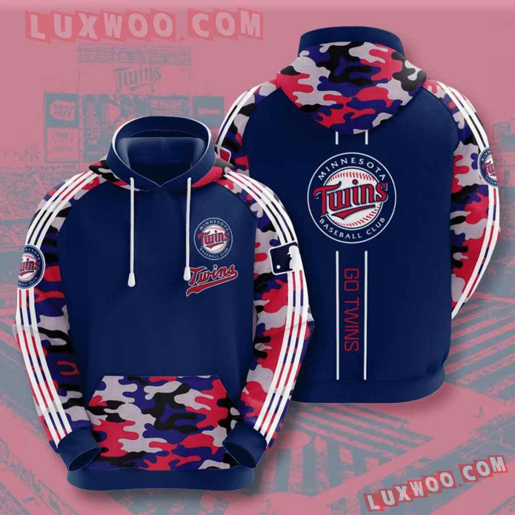 Mlb Minnesota Twins 3d Hoodies Printed Zip Hoodies Sweatshirt Jacket V5