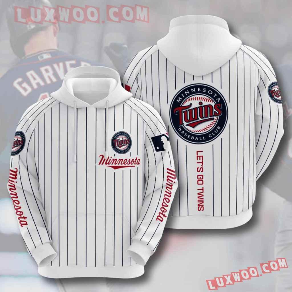 Mlb Minnesota Twins 3d Hoodies Printed Zip Hoodies Sweatshirt Jacket V6