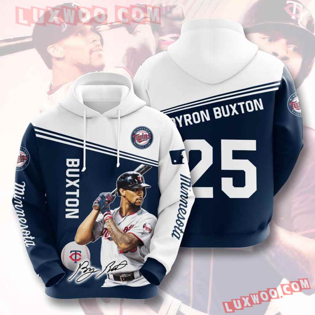Mlb Minnesota Twins 3d Hoodies Printed Zip Hoodies Sweatshirt Jacket V8