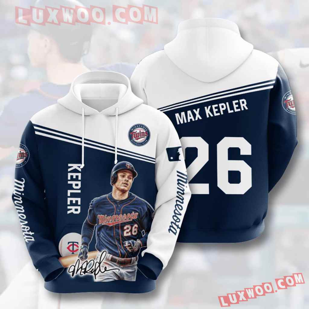 Mlb Minnesota Twins 3d Hoodies Printed Zip Hoodies Sweatshirt Jacket V9