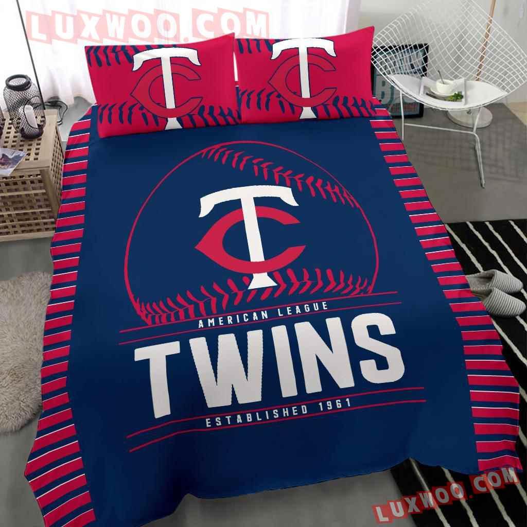 Mlb Minnesota Twins 3d Quilt Bedding Set V 1