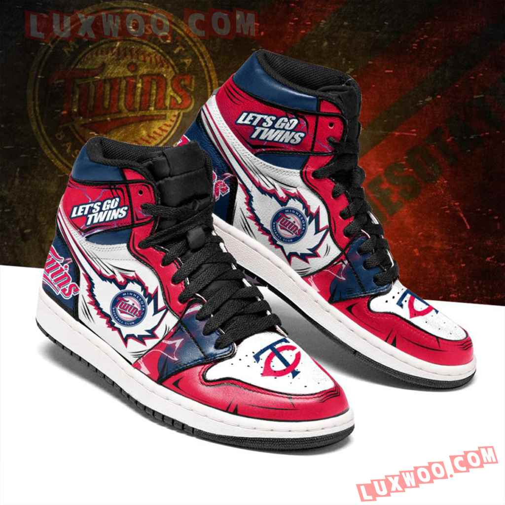 Mlb Minnesota Twins Air Jordan 1 Custom Shoes Sneaker V1