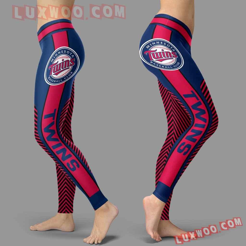 Mlb Minnesota Twins Leggings 3d Custom Print Leggings Sport V1