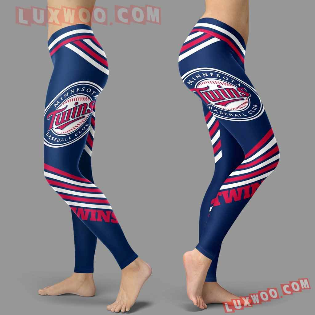 Mlb Minnesota Twins Leggings 3d Custom Print Leggings Sport V2