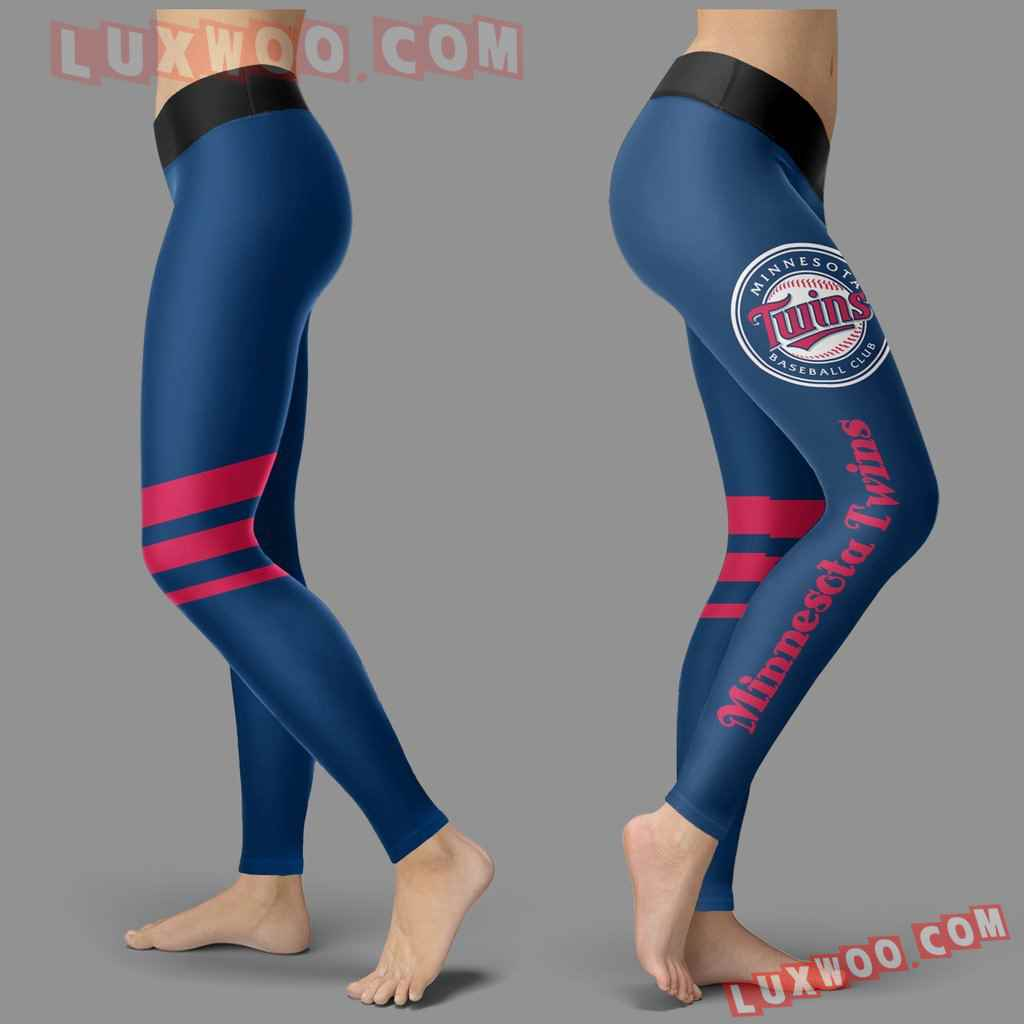 Mlb Minnesota Twins Leggings 3d Custom Print Leggings Sport V3