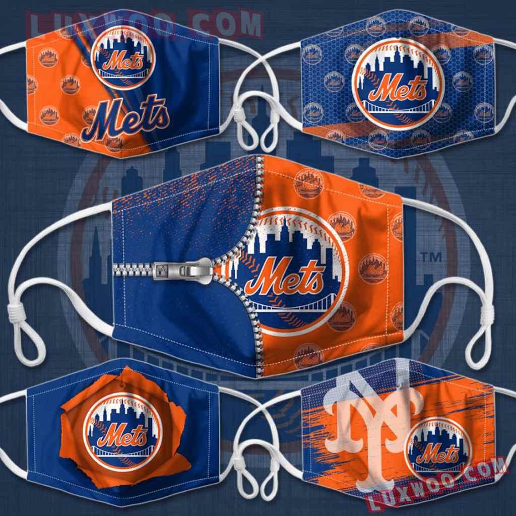 Mlb New York Mets 3d Face Mask Combo 5 V1