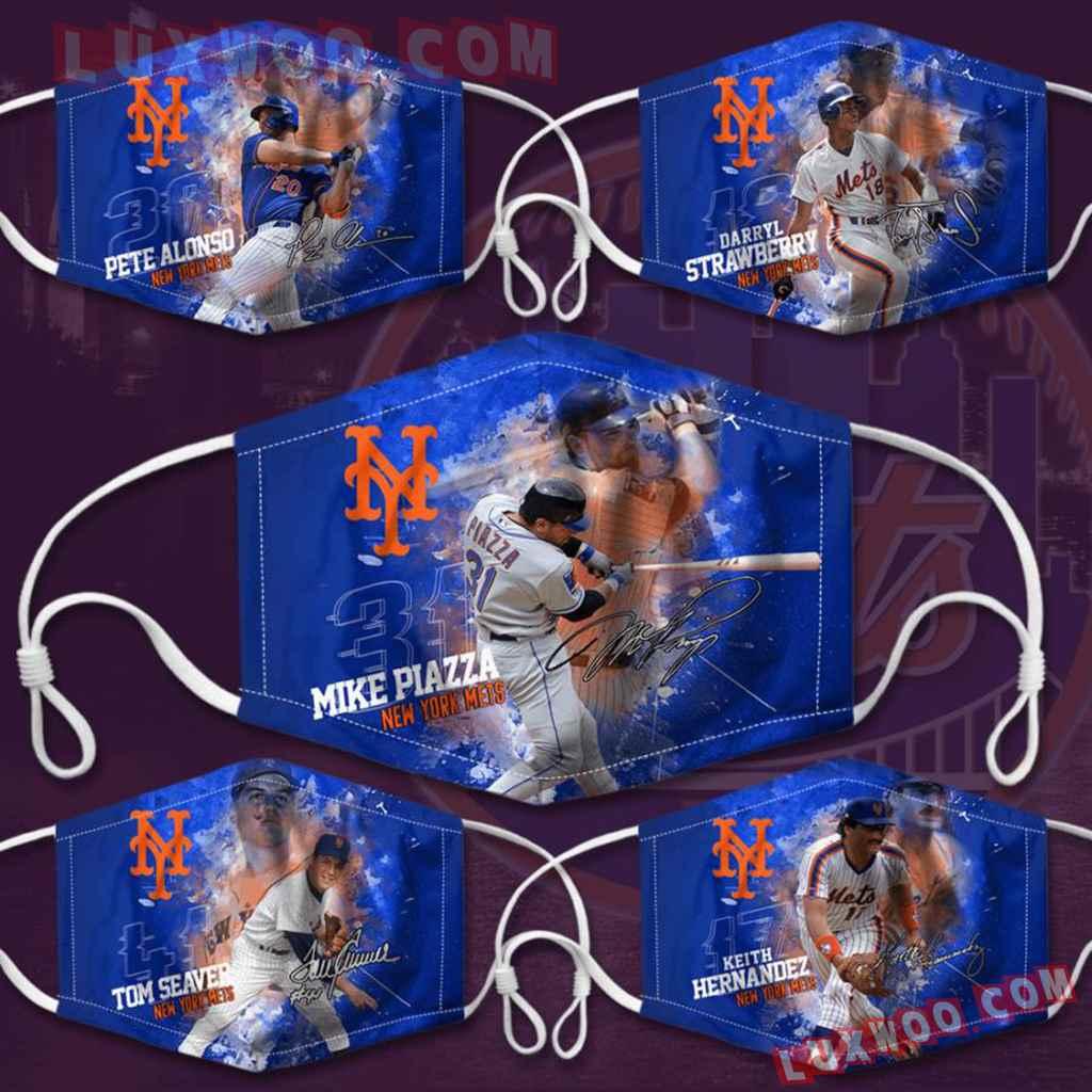 Mlb New York Mets 3d Face Mask Combo 5 V2