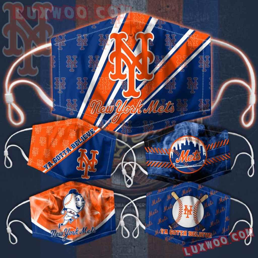 Mlb New York Mets 3d Face Mask Combo 5 V4