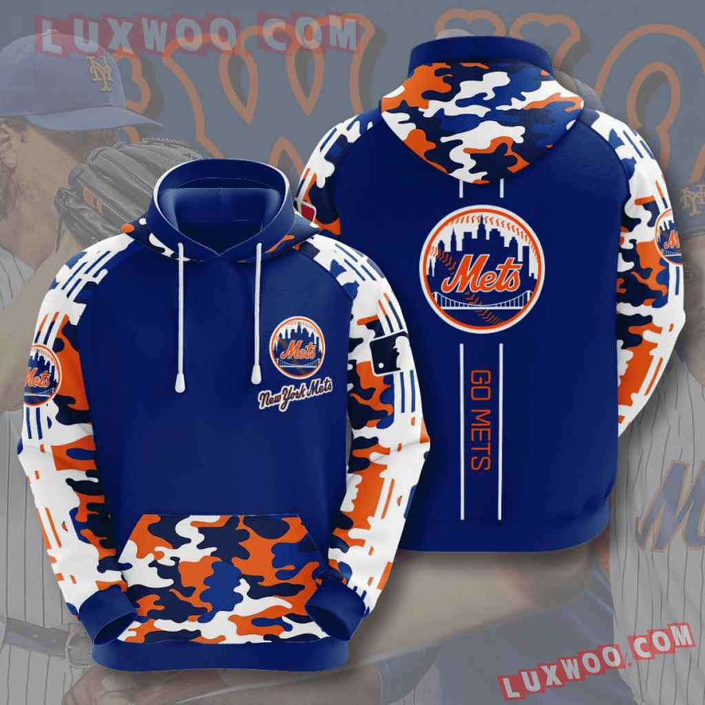 Mlb New York Mets 3d Hoodies Printed Zip Hoodies Sweatshirt Jacket V11