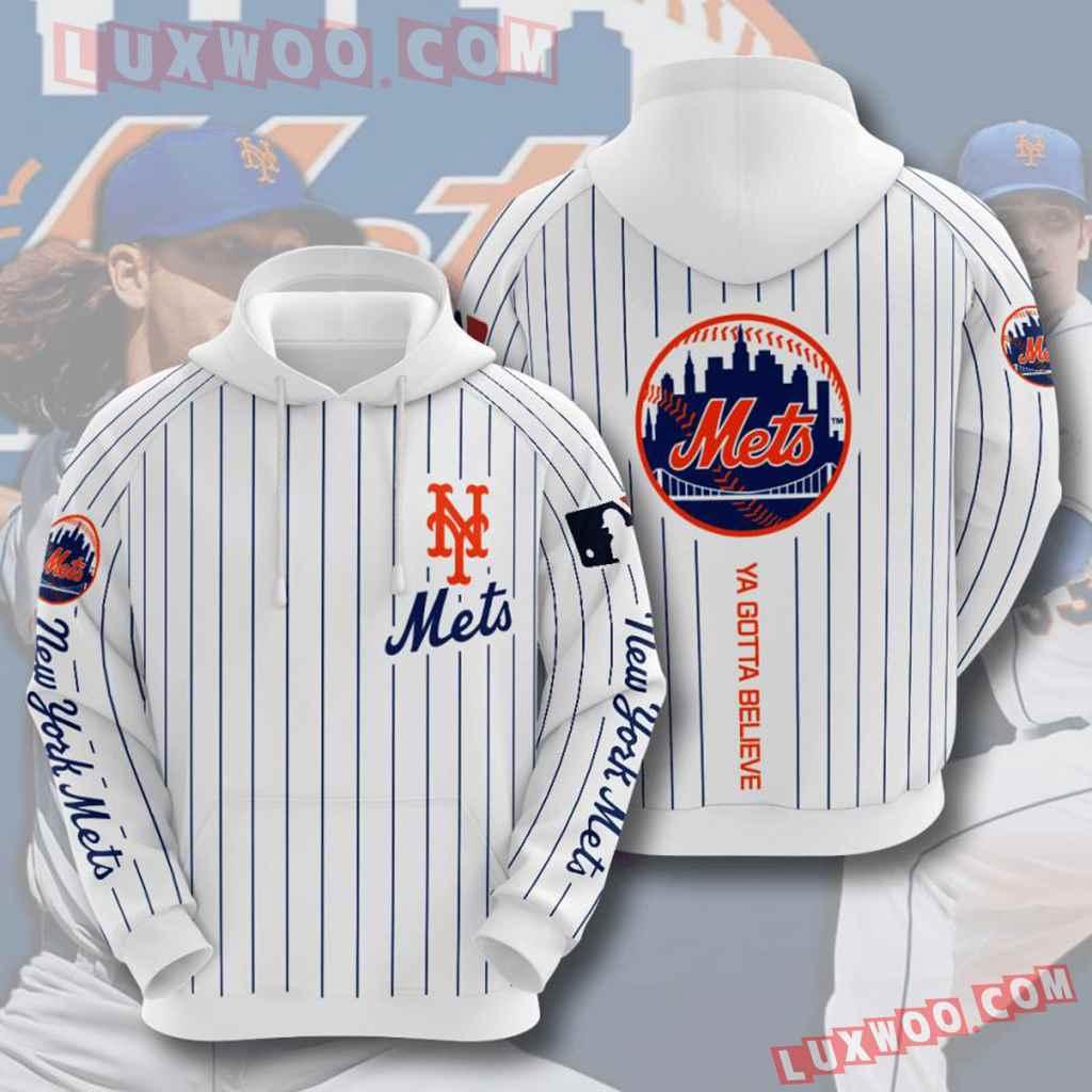 Mlb New York Mets 3d Hoodies Printed Zip Hoodies Sweatshirt Jacket V12