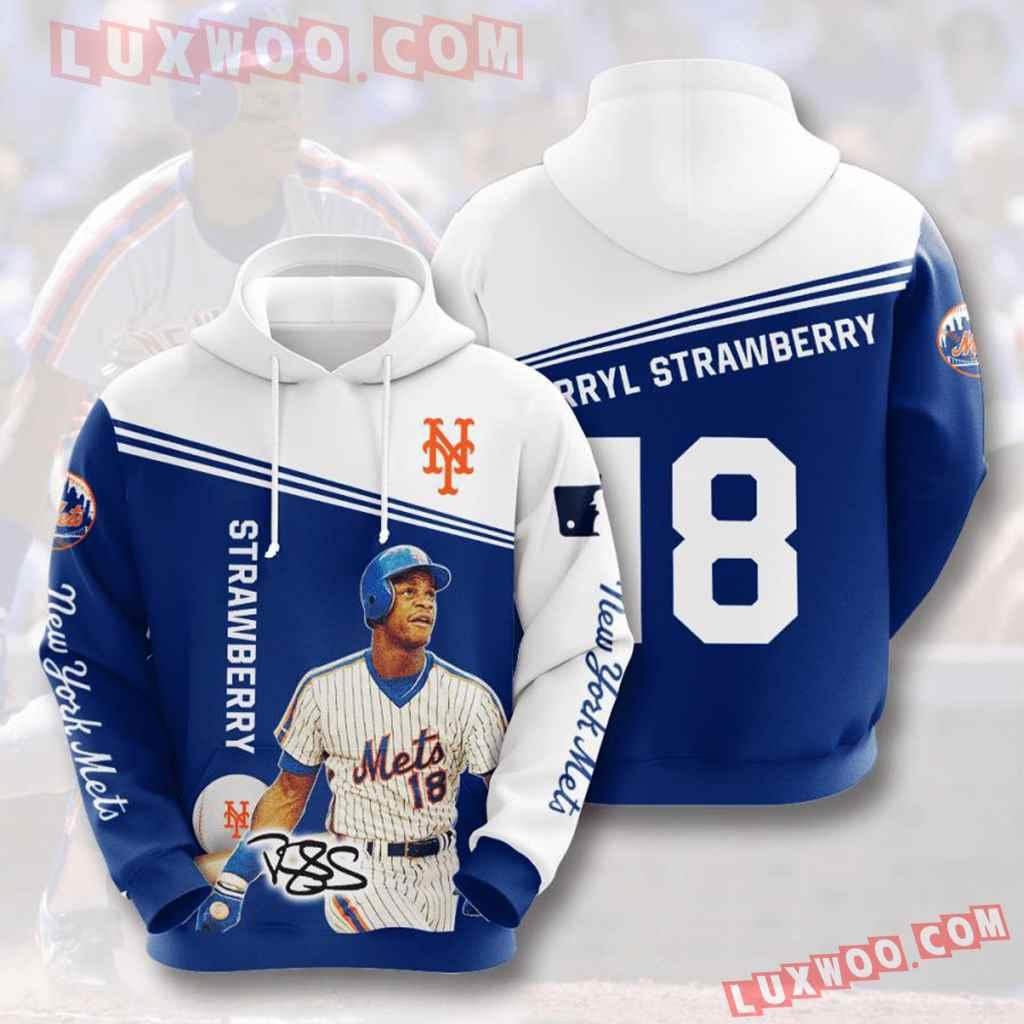Mlb New York Mets 3d Hoodies Printed Zip Hoodies Sweatshirt Jacket V13