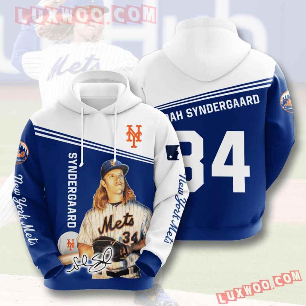 Mlb New York Mets 3d Hoodies Printed Zip Hoodies Sweatshirt Jacket V14