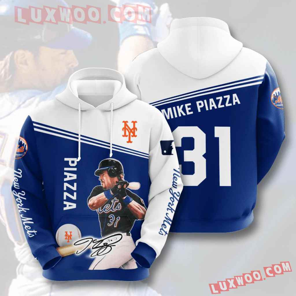 Mlb New York Mets 3d Hoodies Printed Zip Hoodies Sweatshirt Jacket V15