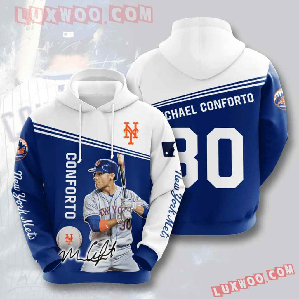 Mlb New York Mets 3d Hoodies Printed Zip Hoodies Sweatshirt Jacket V16