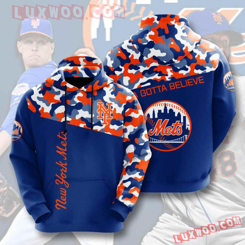 Mlb New York Mets 3d Hoodies Printed Zip Hoodies Sweatshirt Jacket V2