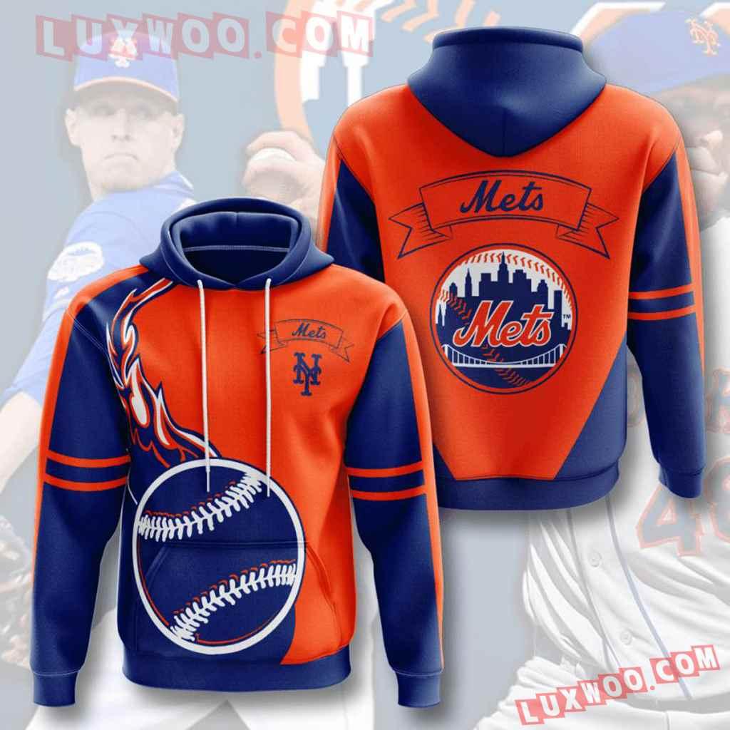 Mlb New York Mets 3d Hoodies Printed Zip Hoodies Sweatshirt Jacket V3