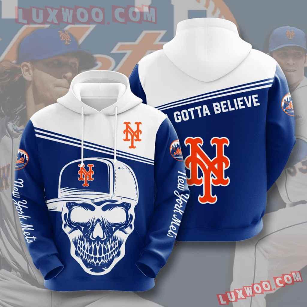 Mlb New York Mets 3d Hoodies Printed Zip Hoodies Sweatshirt Jacket V6