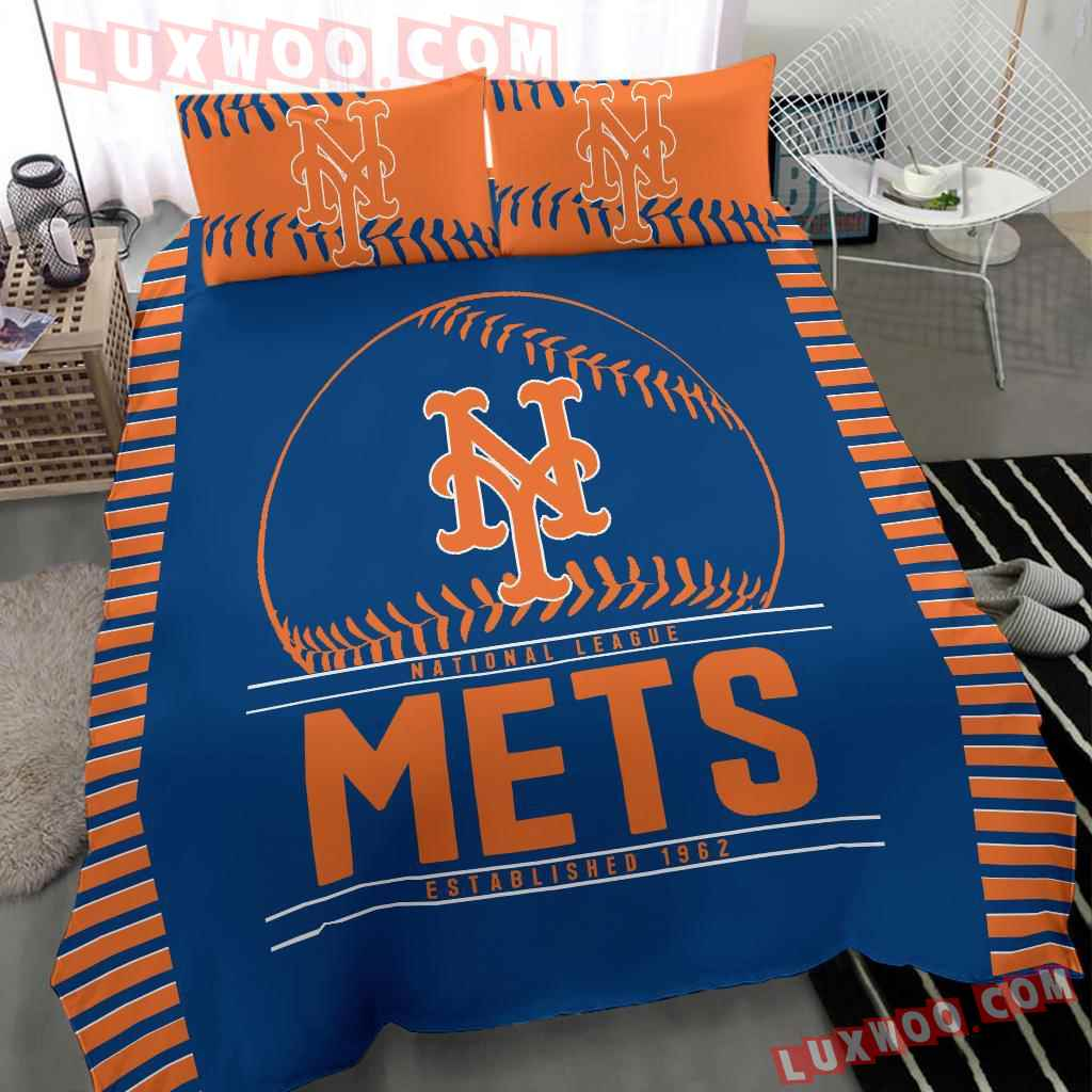 Mlb New York Mets 3d Quilt Bedding Set V1