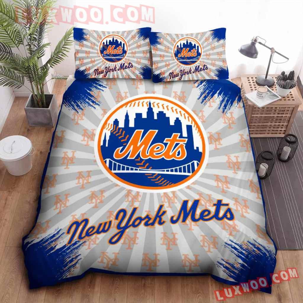 Mlb New York Mets 3d Quilt Bedding Set V2
