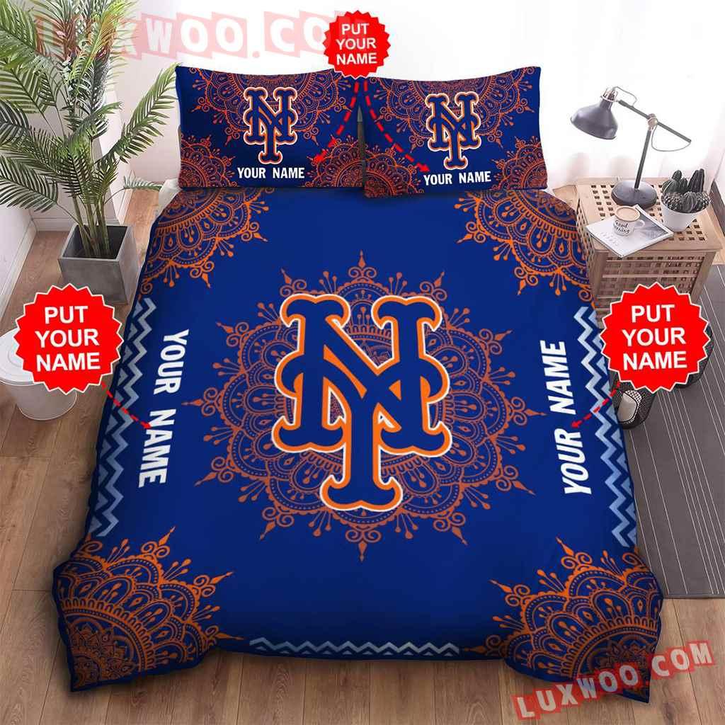 Mlb New York Mets 3d Quilt Bedding Set V3