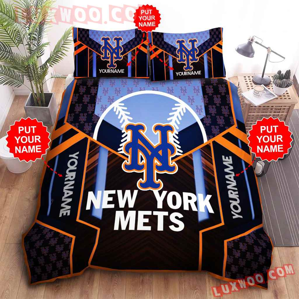 Mlb New York Mets 3d Quilt Bedding Set V4