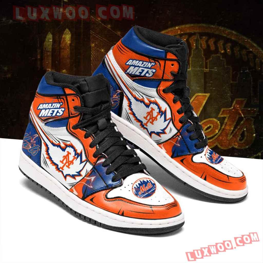 Mlb New York Mets Air Jordan 1 Custom Shoes Sneaker V1