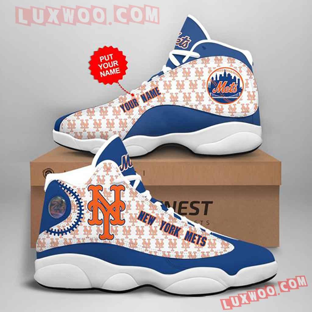 Mlb New York Mets Air Jordan 13 Custom Shoes Sneaker V4 Personalized
