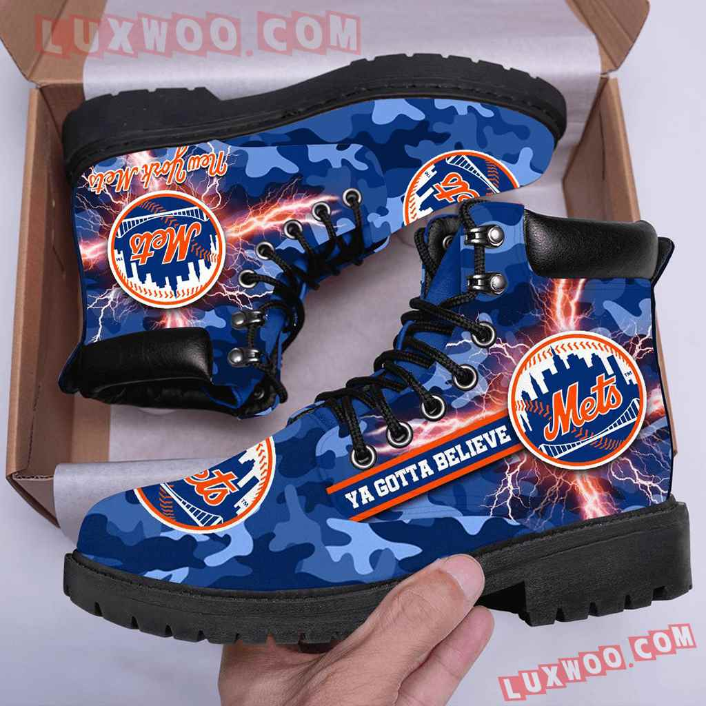 Mlb New York Mets Season Boots Shoes V1
