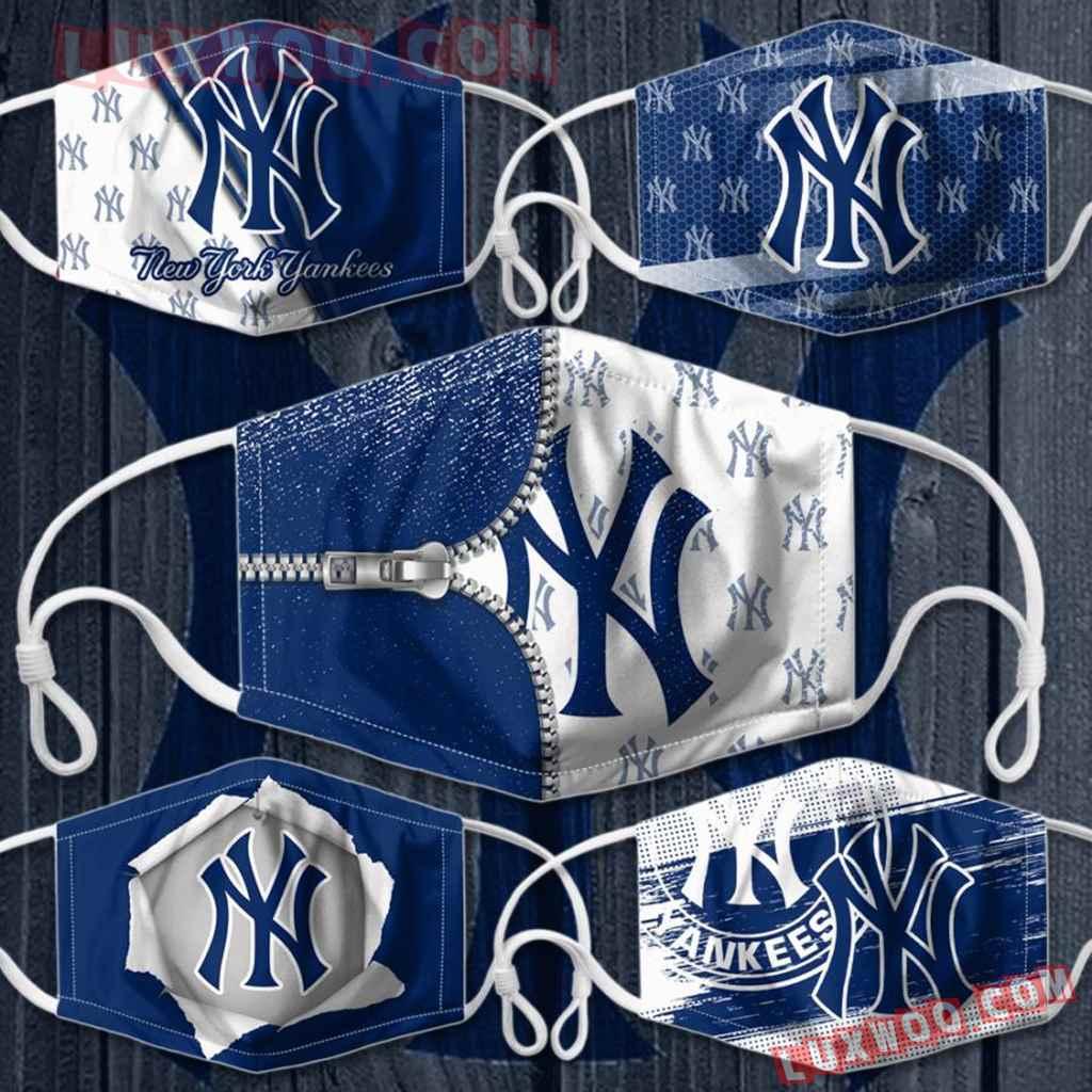 Mlb New York Yankees 3d Face Mask Combo 5 V1