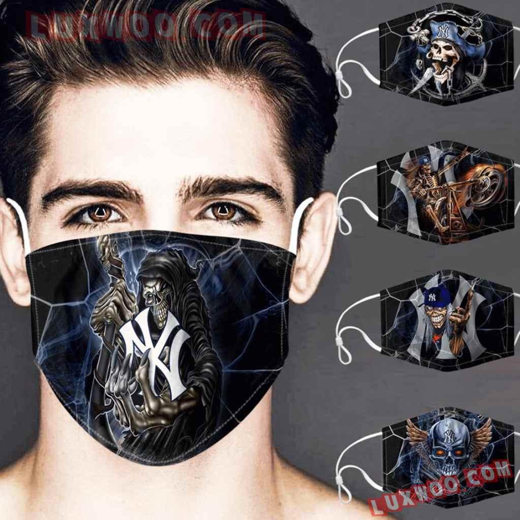 Mlb New York Yankees 3d Face Mask Combo 5 V2
