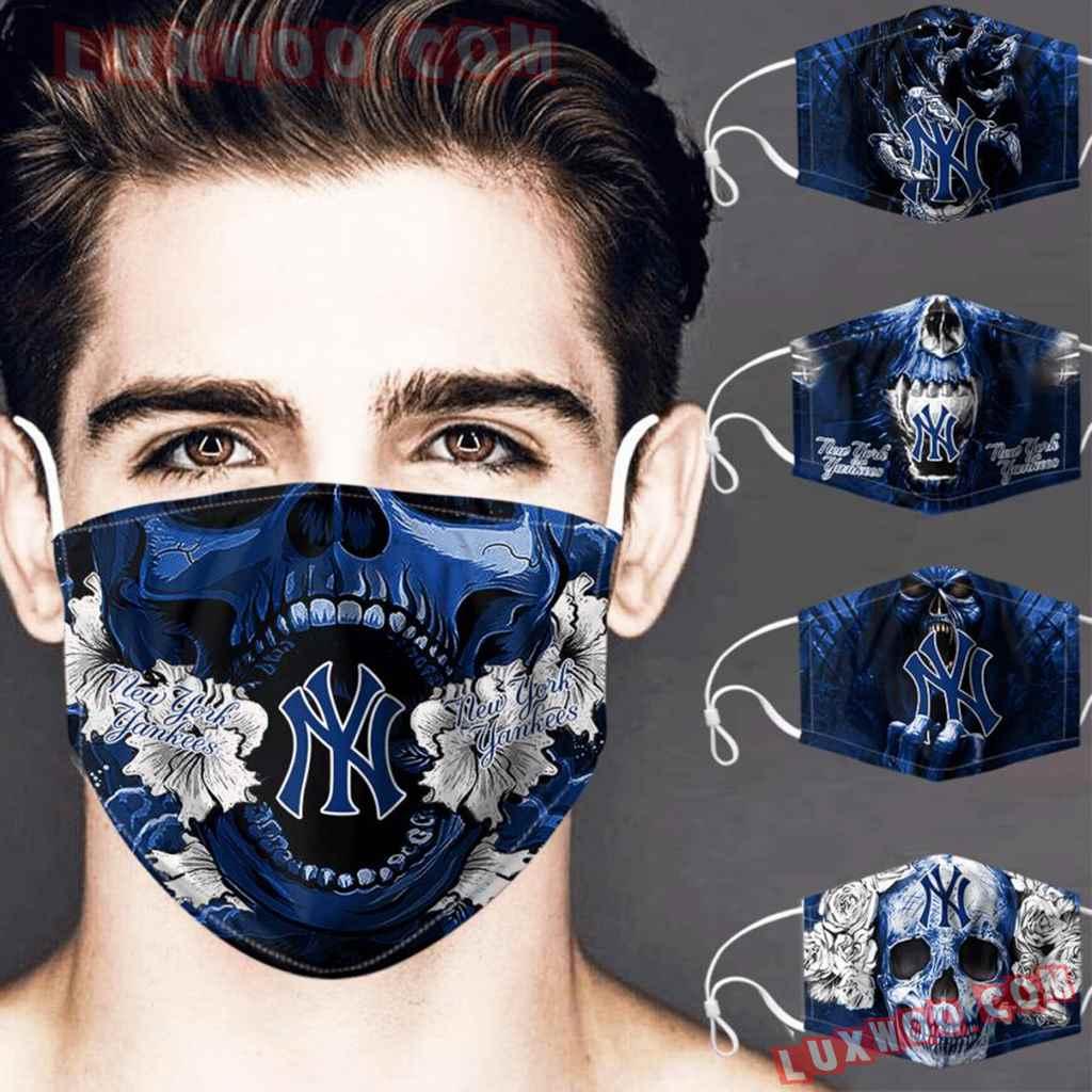 Mlb New York Yankees 3d Face Mask Combo 5 V3
