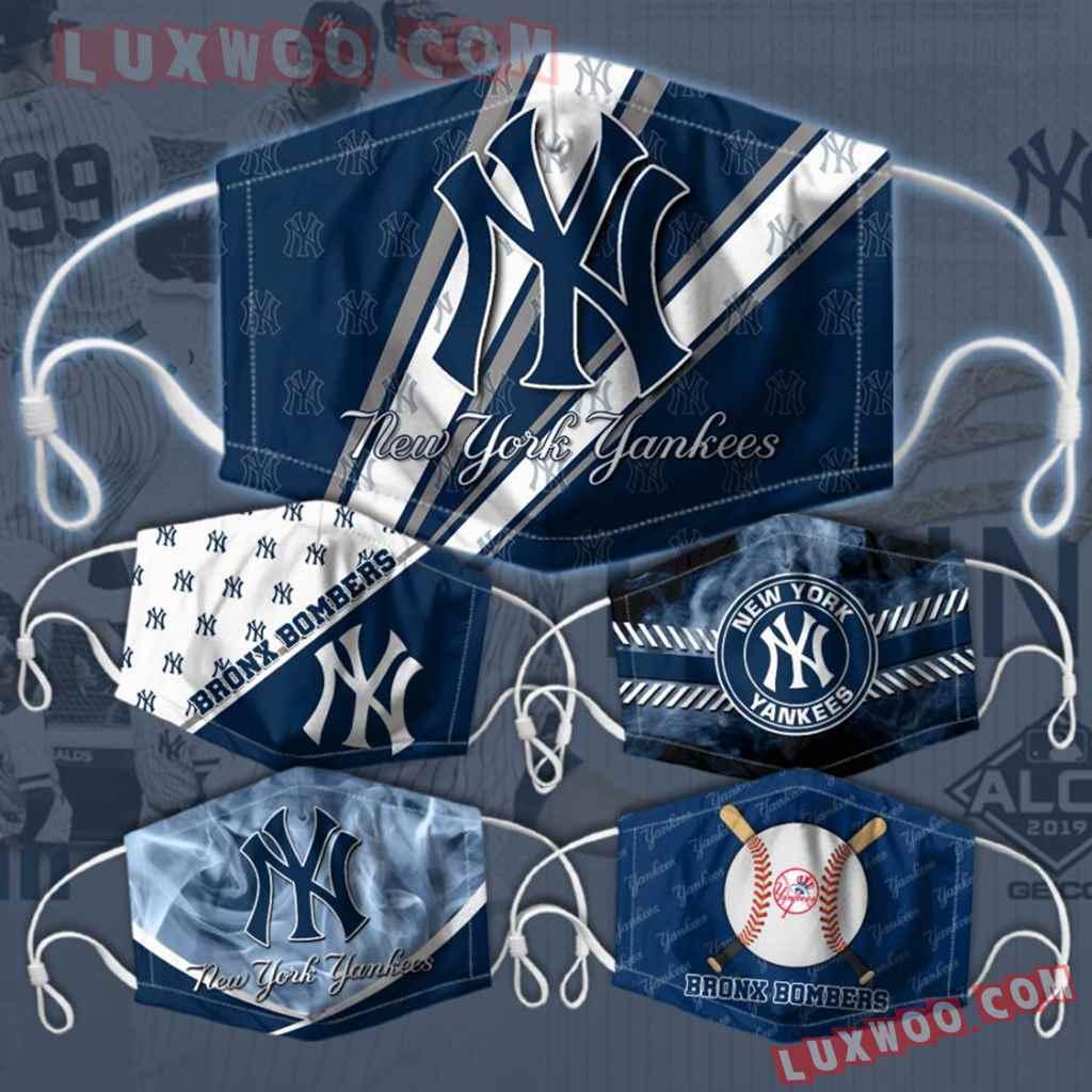 Mlb New York Yankees 3d Face Mask Combo 5 V6