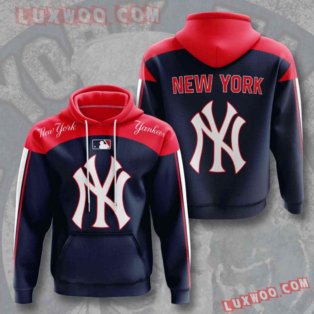 Mlb New York Yankees 3d Hoodies Printed Zip Hoodies Sweatshirt Jacket V10