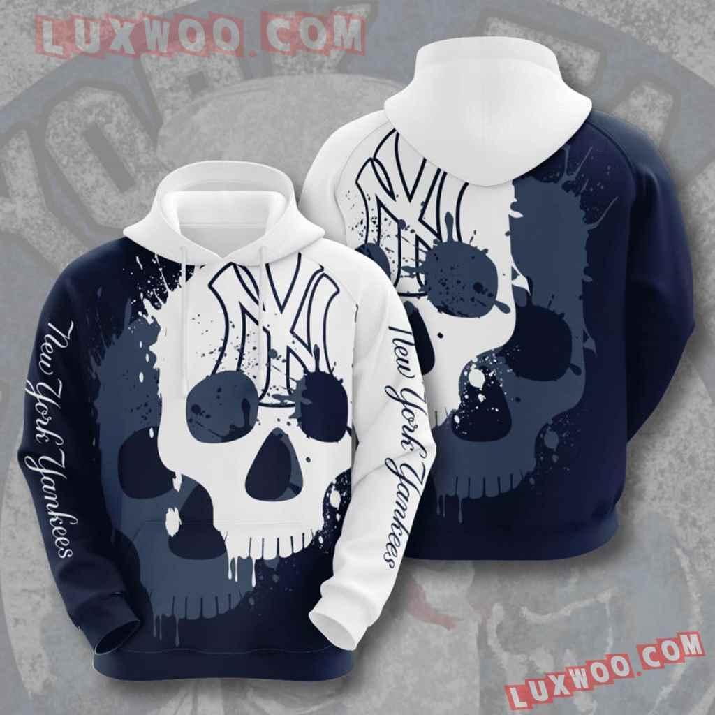 Mlb New York Yankees 3d Hoodies Printed Zip Hoodies Sweatshirt Jacket V12