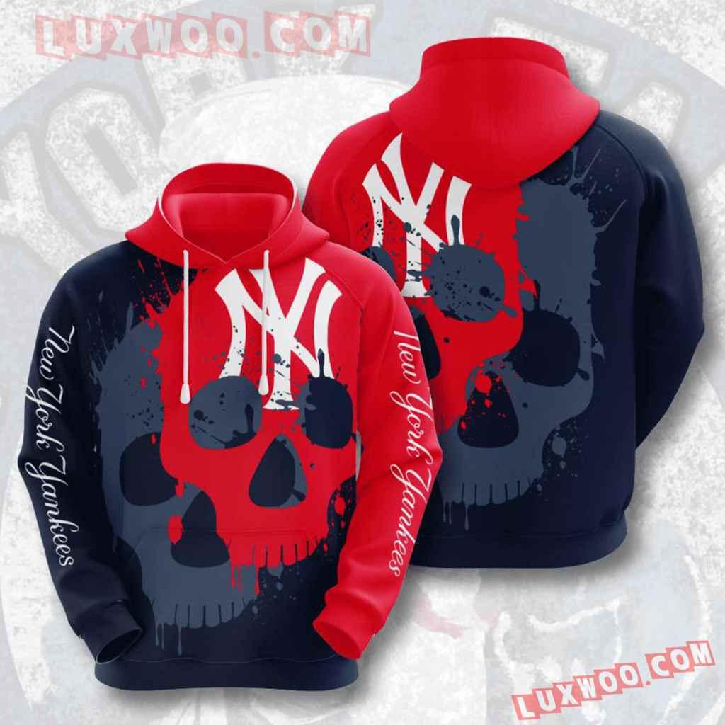 Mlb New York Yankees 3d Hoodies Printed Zip Hoodies Sweatshirt Jacket V13