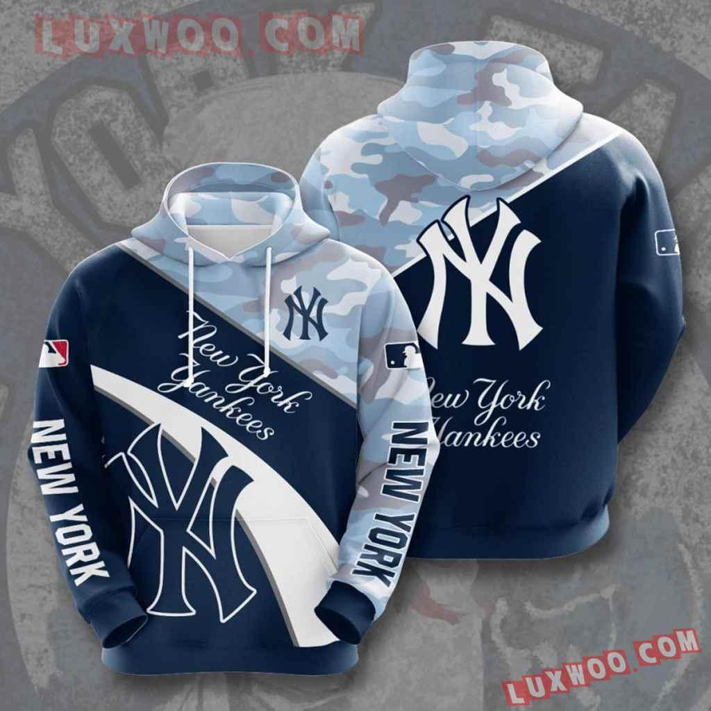 Mlb New York Yankees 3d Hoodies Printed Zip Hoodies Sweatshirt Jacket V14
