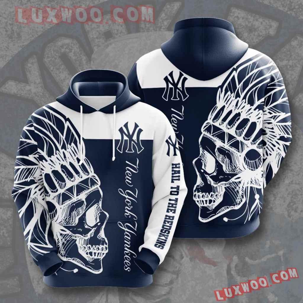 Mlb New York Yankees 3d Hoodies Printed Zip Hoodies Sweatshirt Jacket V15