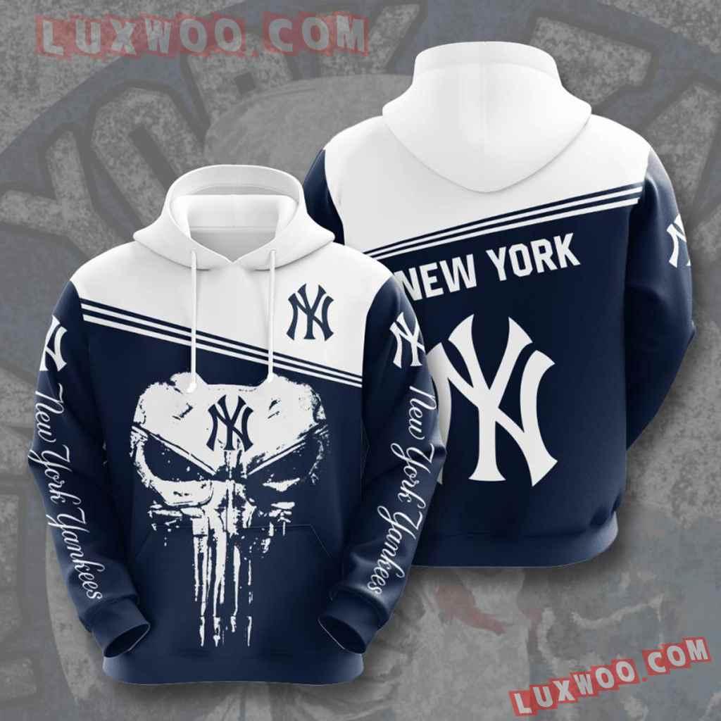 Mlb New York Yankees 3d Hoodies Printed Zip Hoodies Sweatshirt Jacket V16