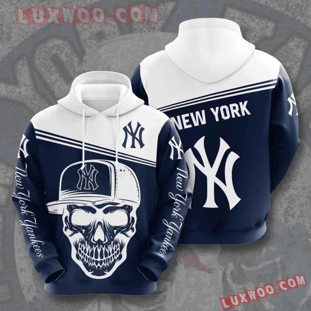 Mlb New York Yankees 3d Hoodies Printed Zip Hoodies Sweatshirt Jacket V17