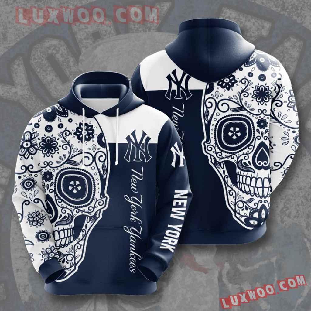 Mlb New York Yankees 3d Hoodies Printed Zip Hoodies Sweatshirt Jacket V18