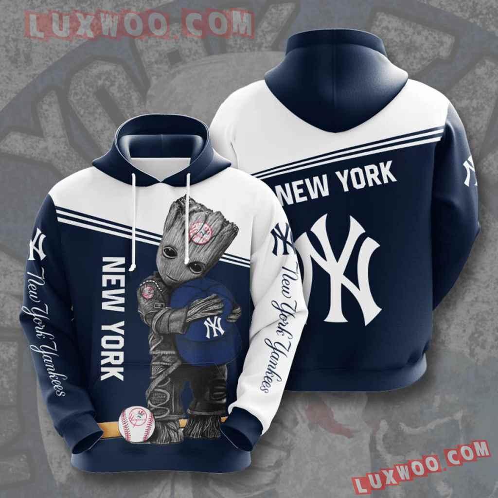 Mlb New York Yankees 3d Hoodies Printed Zip Hoodies Sweatshirt Jacket V19