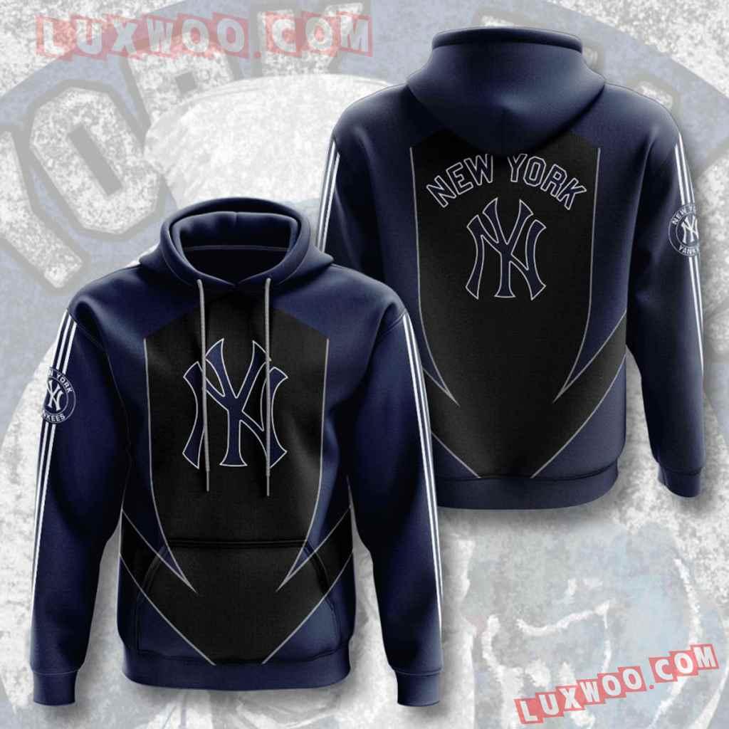 Mlb New York Yankees 3d Hoodies Printed Zip Hoodies Sweatshirt Jacket V2