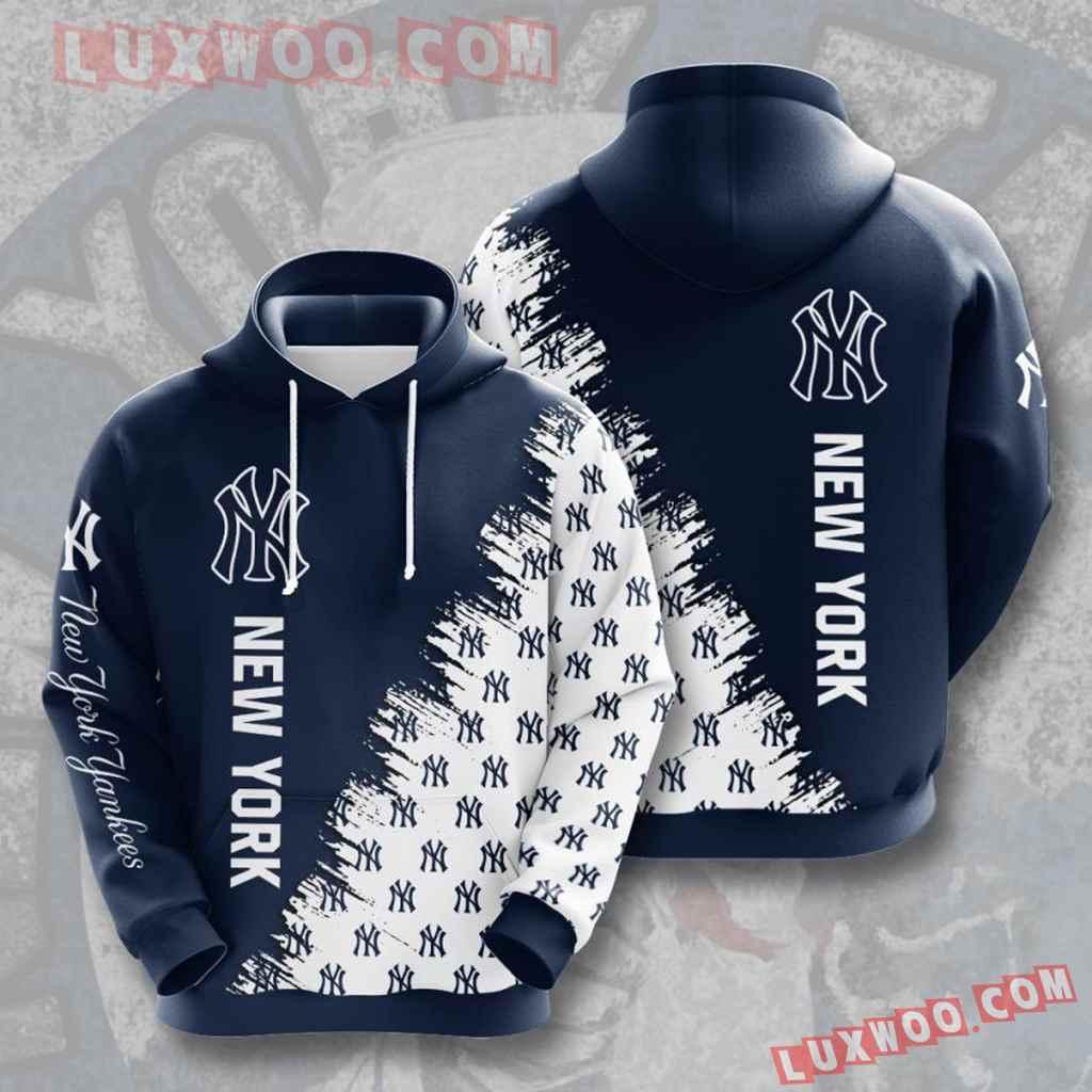 Mlb New York Yankees 3d Hoodies Printed Zip Hoodies Sweatshirt Jacket V20