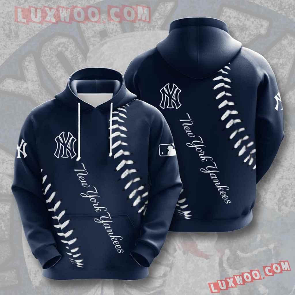 Mlb New York Yankees 3d Hoodies Printed Zip Hoodies Sweatshirt Jacket V21