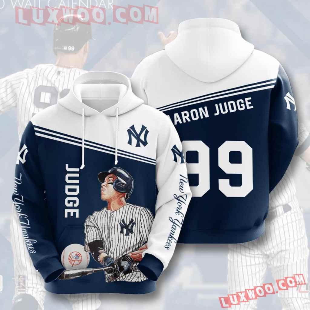 Mlb New York Yankees 3d Hoodies Printed Zip Hoodies Sweatshirt Jacket V22