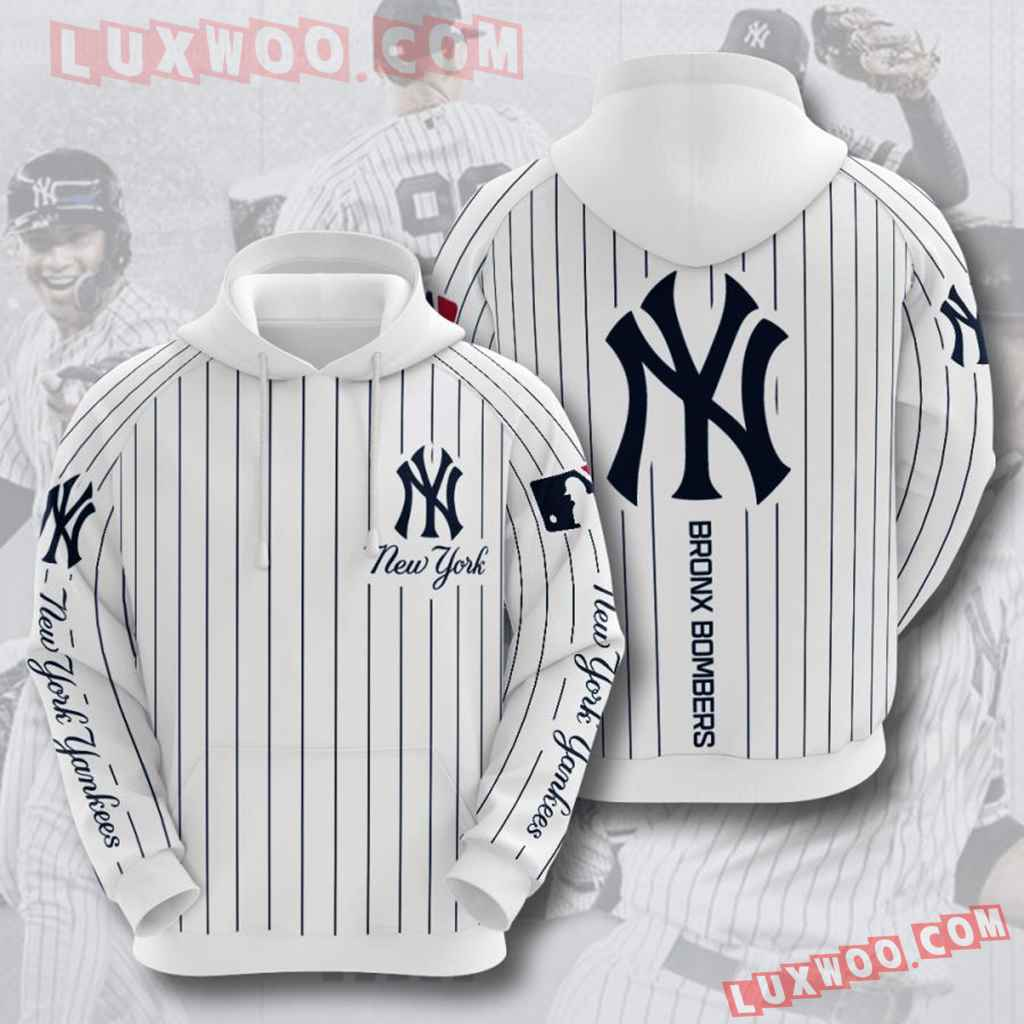 Mlb New York Yankees 3d Hoodies Printed Zip Hoodies Sweatshirt Jacket V26